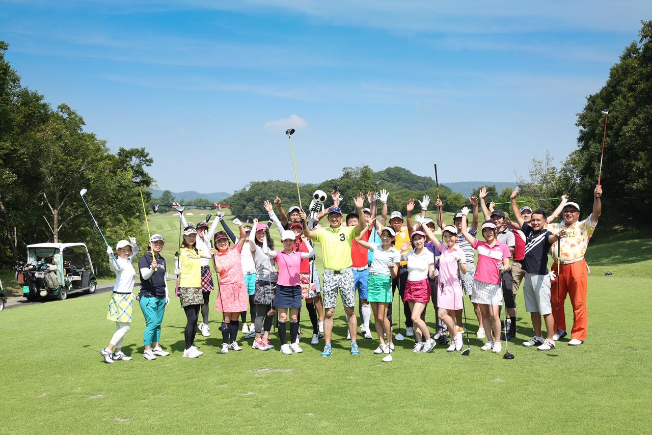 横浜ゴルフスクール中島コンペ集合写真