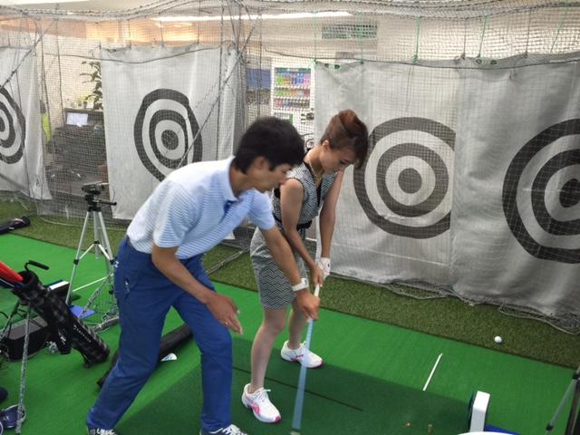 奥山秀彦プロ 研修中/横浜ゴルフスクール中島